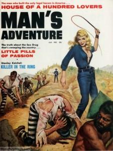 MAN'S ADVENTURE, Jan 1961. Art probably by Mel Crair-8x6