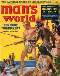 MAN'S WORLD, August 1958. Cover by Mort Kunstler-8x6[1]